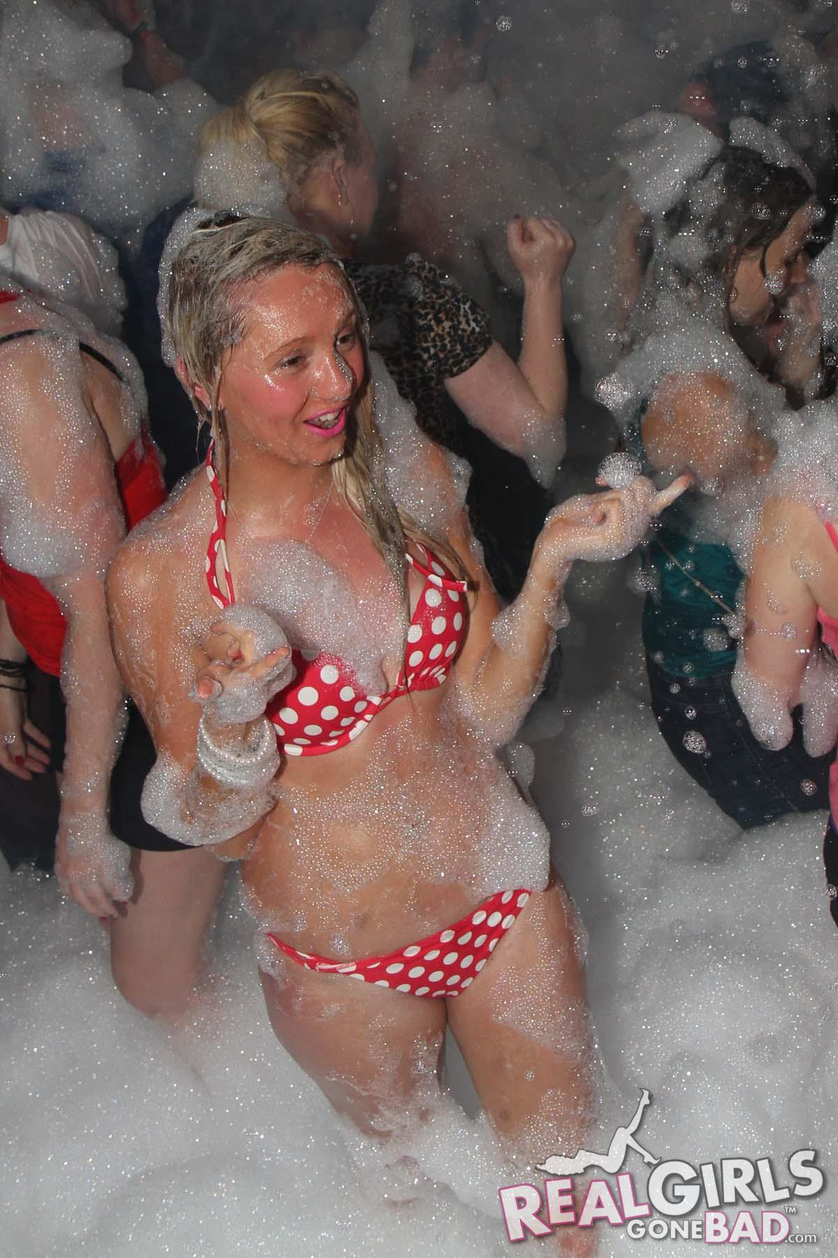 Real Chav Girls at a Foam Party