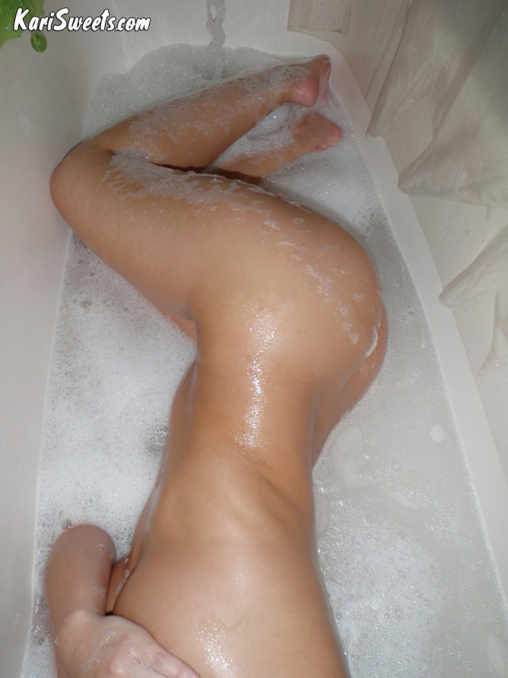Kari Sweets Naked In The Shower 14