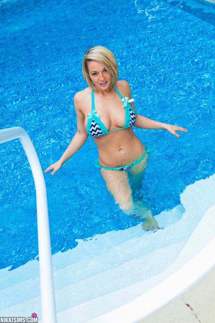Nikki Sims in a Bikini